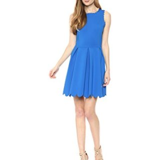 A|X Armani Exchange Women's Sleeveless Cocktail a-Line Dress, Victoria Blue, S