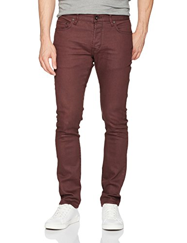 John Varvatos Men's Wight Jean, Button Fly Aoie 1, Garnet, 34