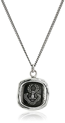 Pyrrha Unisex Inner Strength Sterling Silver Talisman Pendant Necklace, 18""