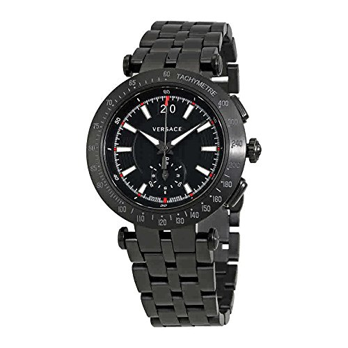 Versace Men's 'V-Race Sport' Swiss Quartz Stainless Steel Casual Watch, Color:Black