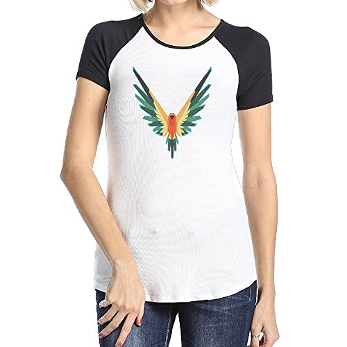 Logan Paul's Flying Brids Female Soft Shirt Tee Raglan Short Sleeve