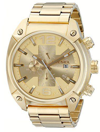 Diesel Men's Overflow Gold-Tone Stainless Steel Watch