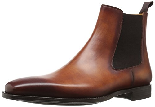 Magnanni Men's Sean Chelsea Boot, Cognac, 9.5 M US