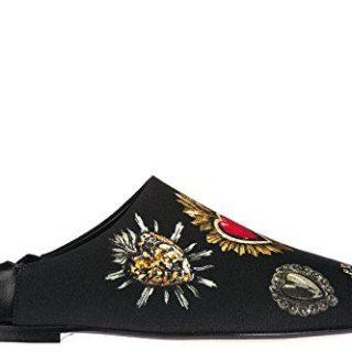 Dolce & Gabbana Women's Slippers Sandals Zendaya Black US Size 8.5