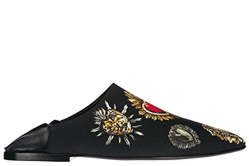 Dolce & Gabbana Women's Slippers Sandals Zendaya Black US Size 8.5