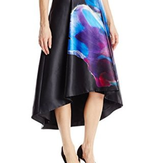 Ted Baker Women's Kaelyne Cosmic Bloom Full Skirt, Black, 0