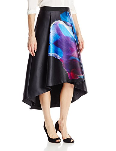 Ted Baker Women's Kaelyne Cosmic Bloom Full Skirt, Black, 0