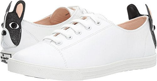 Kate Spade New York Women's Lucie Sneaker, White, 7.5 Medium US