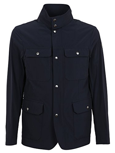 Moncler Men's Blue Polyamide Outerwear Jacket