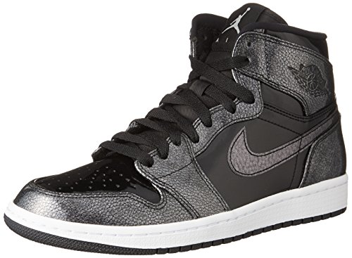 Jordan Nike Mens Air 1 Retro High Top Basketball Shoe Black/Black-White 10
