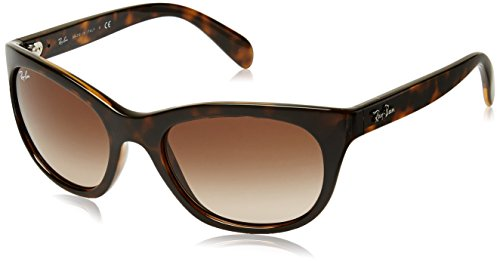 Ray-Ban Women's Plastic Woman Square Sunglasses, Light Havana, 56 mm