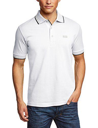 HUGO BOSS GREEN Men's Classic Polo T-shirt PADDY M White