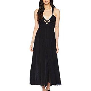 Mara Hoffman Women's Annika Halter Cover up Dress, Black, Small