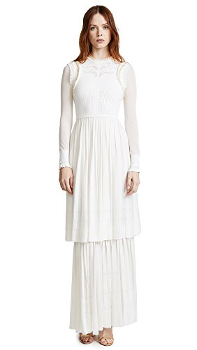Roberto Cavalli Women's Tiered Maxi Dress, Avorio, 38