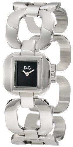 D&G Dolce & Gabbana Women's Bbq Round Square Case Black Dial Watch