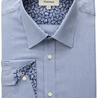 "Ted Baker Men's Troon Slim Fit Dress Shirt, Blue, 15.5"" Neck 32""-33"" Sleeve"