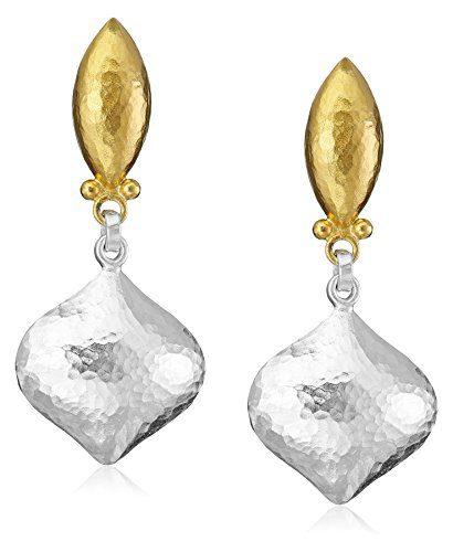 """GURHAN""""Clove"""" Sterling Silver Drop Earrings"""