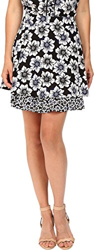 Kate Spade New York Women's Hollyhock Double Layer Skirt Black 2
