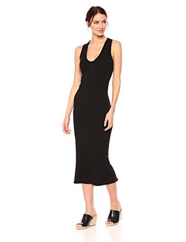 Enza Costa Women's Sleeveless U-Neck Ankle Length Dress, Black, S