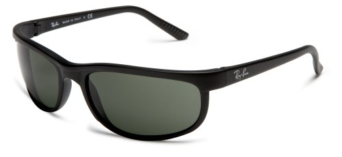 Ray-Ban PREDATOR 2 - BLACK/MATTE BLACK Frame CRYSTAL GREEN Lenses 62mm Non-Polarized