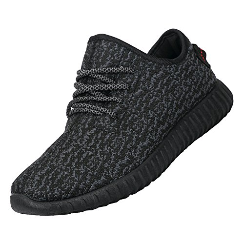 MAIERNISIJESSI Unisex Men's Women's Breathable Athletic Running Shoes Trainers Casual Sneakers Black 44 - Women US10.5-Men US9