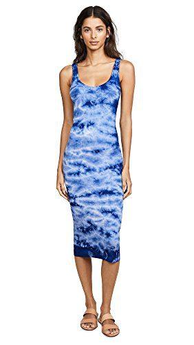 Enza Costa Women's Rib Tank Dress, Oceanic, X-Small