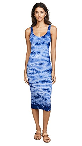 Enza Costa Women's Rib Tank Dress, Oceanic, X-Small