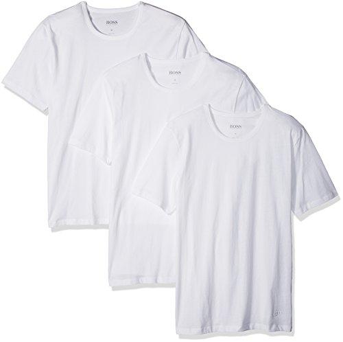 Hugo Boss BOSS Men's T-Shirt Rn 3p Us Co, White, Large