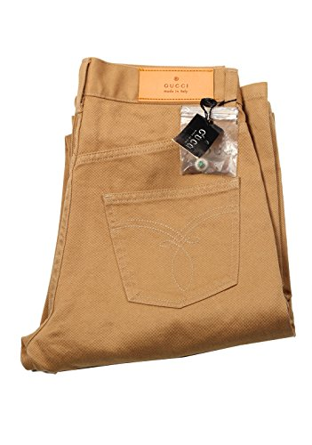 Gucci CL Beige Trousers Size 44/28 U.S. in Cotton