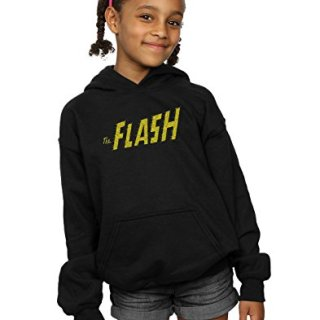 DC Comics Girls Flash Crackle Logo Hoodie