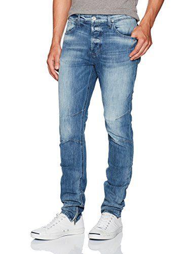 Hudson Jeans Men's Vaughn Skinny Ankle Zip Jeans, No Remorse, 34