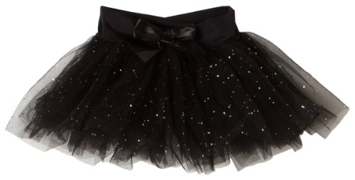 Capezio Little Girls' Tutu Skirt W/ Glitter Tulle,Black,Intermediate ( 6-8)