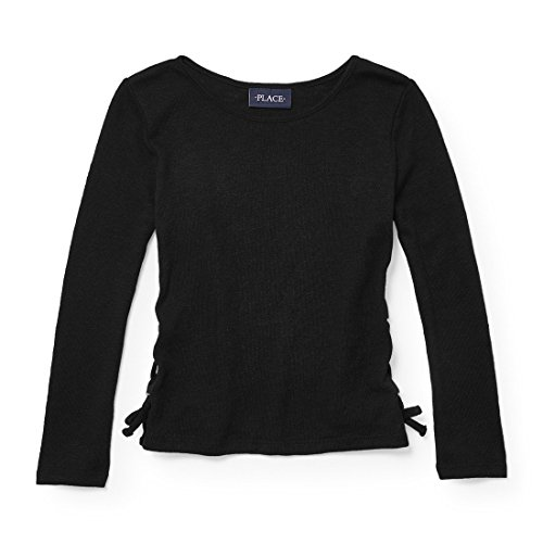 The Children's Place Big Girls' Snit, Black 4228, XL (14)