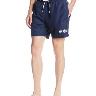 Hugo Boss BOSS Men's Starfish Swim Trunk, Navy, Large