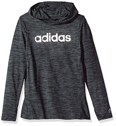 adidas Big Girls' Performance Hoodie, Adi Space Heather, M