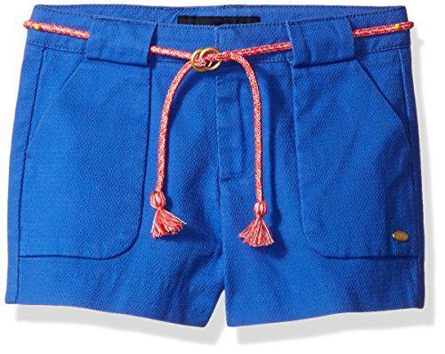 Tommy Hilfiger Little Girls' Woven Short with Belt, Moorish Blue, 4