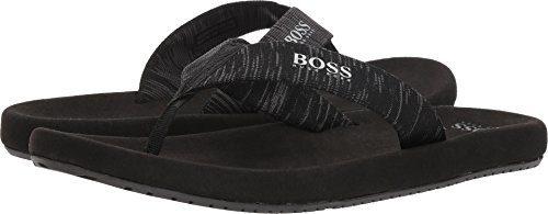 Hugo Boss BOSS Men's Shoreline Thong Sandal by Boss Green Dark Grey 12-13 M US
