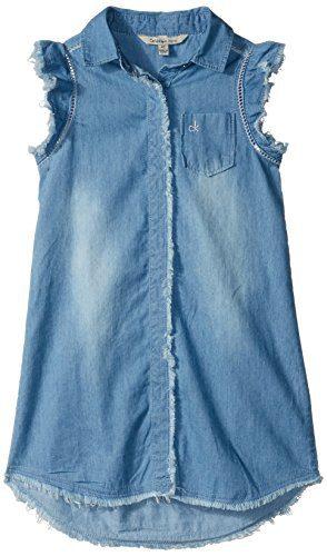 Calvin Klein Little Girls' Denim Dress, Worn, 6