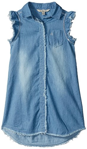Calvin Klein Little Girls' Denim Dress, Worn, 6
