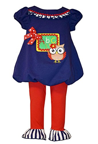 Bonnie Jean Little Girls Teacher Owl Tunic and Leggings, 4T