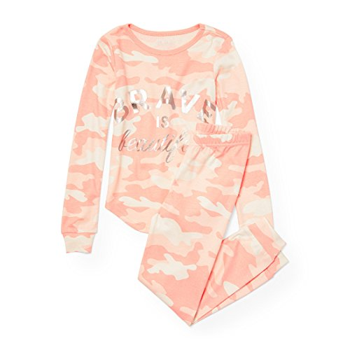 The Children's Place Big Girls' Brave Themed 2 Piece Pajamas, Desertpnk, 6X/7