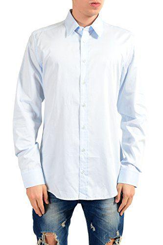 Gucci Men's Classic Light Blue Long Sleeve Dress Shirt Size US 16.5 IT 42