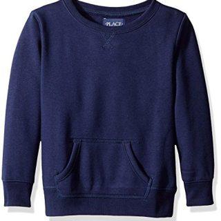 The Children's Place Big Girls' Gym Uniform Pullover Sweatshirt, Tidal, Medium/7/8
