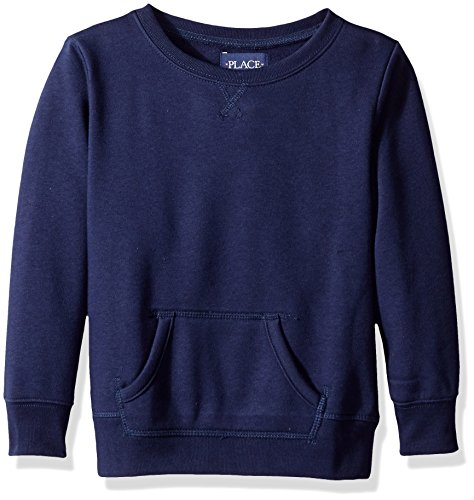 The Children's Place Big Girls' Gym Uniform Pullover Sweatshirt, Tidal, Medium/7/8