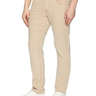 Hudson Jeans Men's Blake Slim Straight Zip Fly Lightweight Twill, Light Sand, 32