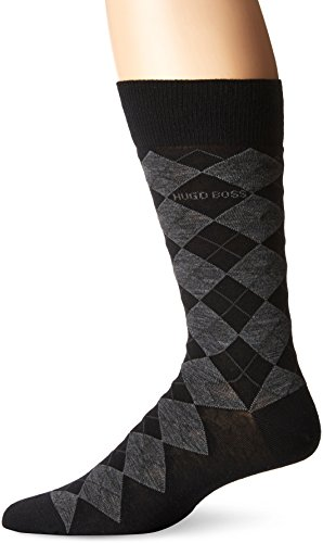 HUGO BOSS Men's John Design, Black, Sock Size:10-13/Shoe Size: 6-12