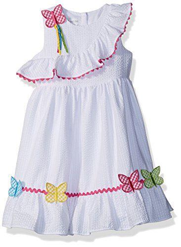 Bonnie Jean Toddler Girls' Appliqued Dress, Butterflies, 3T