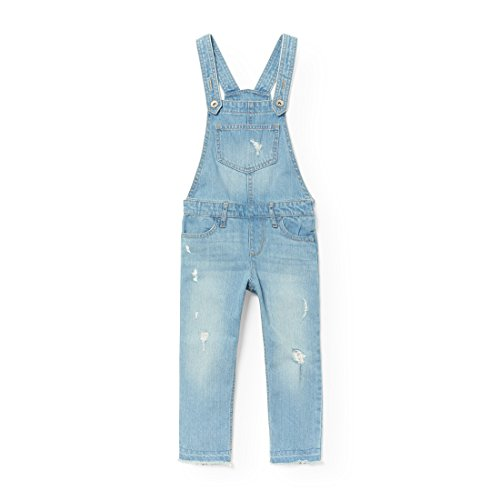 The Children's Place Big Girls' Destructed Overalls, Newmedwash, 4