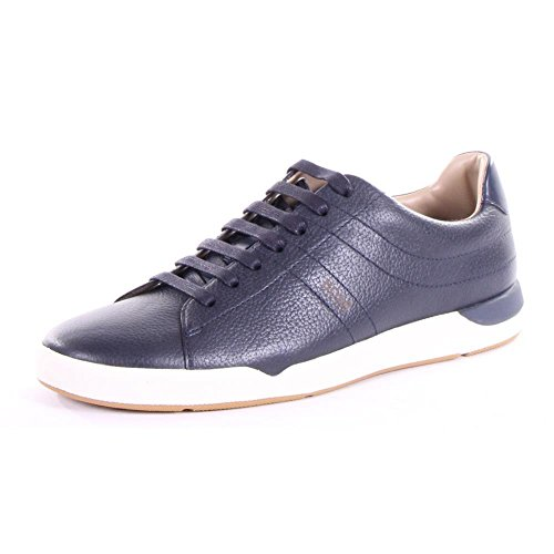 Hugo Boss Stillnes Men's Leather Sneakers Shoes Blue Size 9