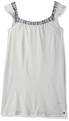 Roxy Big Girls' Precious Mind Dress, Marshmallow, 10/M